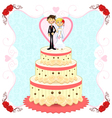 Romantic Wedding Cake vector image vector image