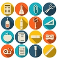 School icons flat set - vector image vector image