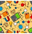 Science laboratory seamless pattern background vector image vector image