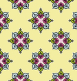 Seamless traditional indian flower background patt vector image
