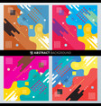 set abstract background with colorful vector image vector image