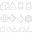 set geometrical shapes vector image vector image