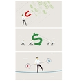 Set of business exchange rate money vector image vector image