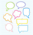 Set of colorful speech bubbles with sticky tape vector image vector image