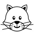simple cartoon of a cute cat vector image vector image