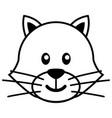 simple cartoon of a cute cat vector image
