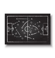soccer cup formation and tactic vector image vector image