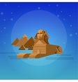 Sphinx background World landmark vector image