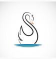 swan design on white background wild animals vector image vector image