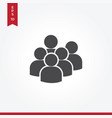 users group icon in modern style for web site and vector image