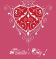 valentine greeting hearts pattern abstract vector image