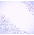 Violet ornate flowers romantic card vector image