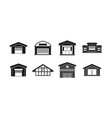 warehouse icon set simple style vector image vector image