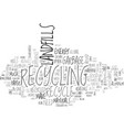 why everyone should recycle text word cloud vector image vector image