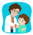 xalittle boy on medical check up with male vector image vector image
