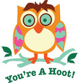 Youre A Hoot vector image vector image