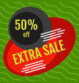 extra sale red and black banner vector image