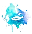 Watercolor Blue Texture vector image