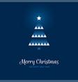 geometric christmas tree on blue background vector image