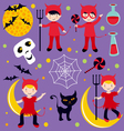 red devil Hallowen vector image