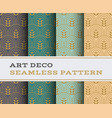 art deco seamless pattern 20 vector image