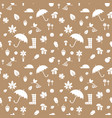 autumn silhouettes pattern beige vector image vector image