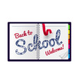 back to school on a notepad vector image vector image