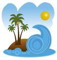 beach in summer vector image