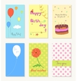 Birthday and holiday invitation greeting cards vector image vector image