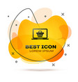 black shopping basket on screen laptop icon vector image vector image