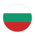 Bulgarian flag vector image vector image