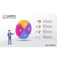 business infographic template circle style 4 steps vector image