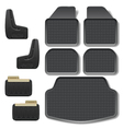 Car Mats set 2 vector image vector image