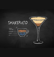 chalked shakerato coffee recipe vector image