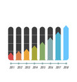 chart bar arrow infographics image vector image vector image