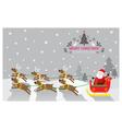 christmas Santa Reindeer vector image vector image