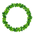 circle frame with clover leaves vector image vector image