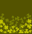 clover shamrock dark green card background vector image