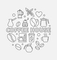 coffee house round cafe vector image vector image