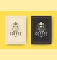 coffee quote vintage typographic style vector image