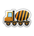 concrete mixer truck vehicle vector image vector image