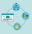 digital marketing organization email target vector image vector image