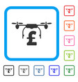 drone pound business framed icon vector image vector image