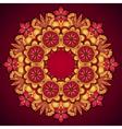 Elegant template vintage flowers lace ornament vector image vector image