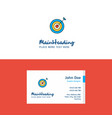 flat dart logo and visiting card template vector image vector image