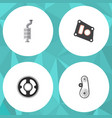 flat parts set of gasket silencer belt and other vector image vector image