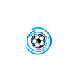 football icon blue for logo design isolated on vector image