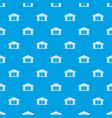 garage pattern seamless blue vector image vector image