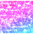 glowing rainbow geometric triangle mosaic backdrop vector image vector image