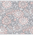 hand drawn naive autumn flowers seamless pattern vector image vector image